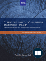 Strengthening the Ombudsman Institution in Asia