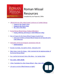 Resources for Roman Missal Changes