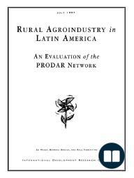 Rural Agroindustry in Latin America