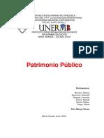 PATRIMONIO PÚBLICO