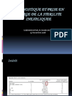 Diagnostique Et Prise en Charge de La Sterilite