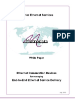 Ethernet Demarcation Devices for managing End-to-End Ethernet Service Delivery