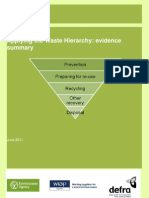 DEFRA Applying the Waste Hierarchy - Evidence Summary 2011
