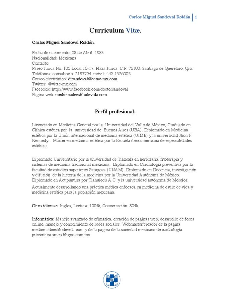 Curriculum Vitæ