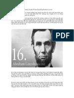Tuyệt chiêu bán hàng từ những chuyện kể của tổng thống Abraham Lincoln