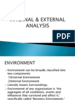 Internal & External Analysis