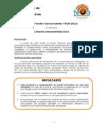 Bases Responsabilidad Social Fondos Concursables FEUA 2012