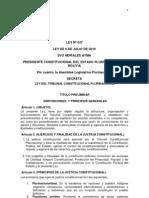 Ley Tribunal Constitucional Bolivia