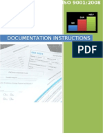 Wch - Iso 9001 Documentation Instructions Rev. 0