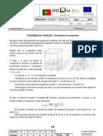 QA1 A6 Questão aula módulo A6 Taxa de Variação