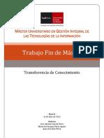 PGS - Transferencia Conocimiento