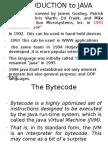 Basic of JAVA-Language