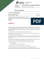Exame de Filosofia da 2ª Fase - 2012