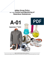 adidas Group Policy for the Control and Monitoring of Hazardous Substances 2010