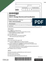 Edexcel Biology Unit 5 June 2012 paper