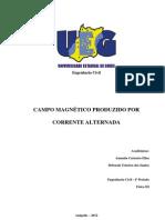 RELATÓRIO 6 - Campo magnético produzido por corrente alternada