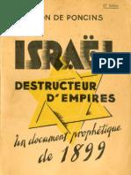 Israel Destructeur d Empires Leon de Poncins 1899