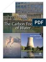 The Carbon Footprint of Water