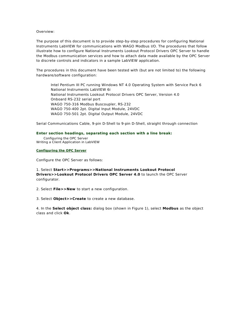 Wago Overview | Input/Output | Digital & Social Media