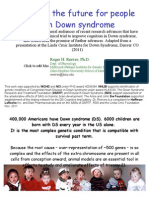 Changing the Future for People with Down syndrome - By Roger Reeves, Ph.D.