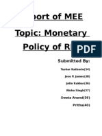 Report on Monetary Policy