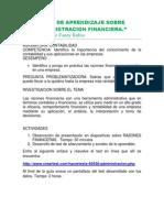 Guia de Aprendizaje Sobre Administracion Financiera