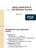 MGT 230 Week 5 Learning Team Assignment Management and Leadership Presentation-1
