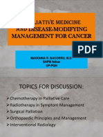 PALLIATIVE MEDICINE Dse-modifying Mx Report