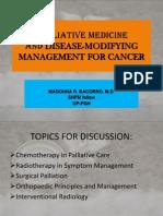PALLIATIVE MEDICINE Dse-modifying Mx Report