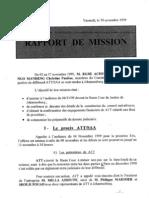 Rapport de Mission