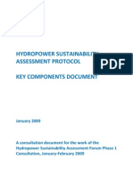 Hydropower Sustainability Assessment Protocol-key Components Document