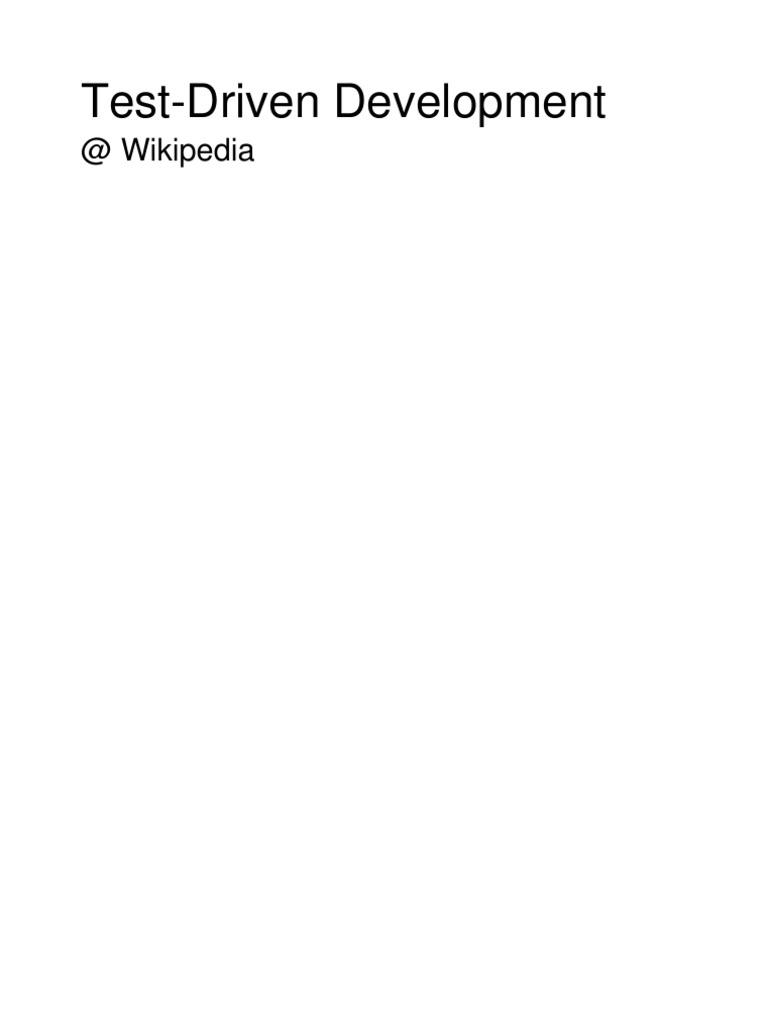 Test-Driven Development Wikipedia Collection | Test Driven