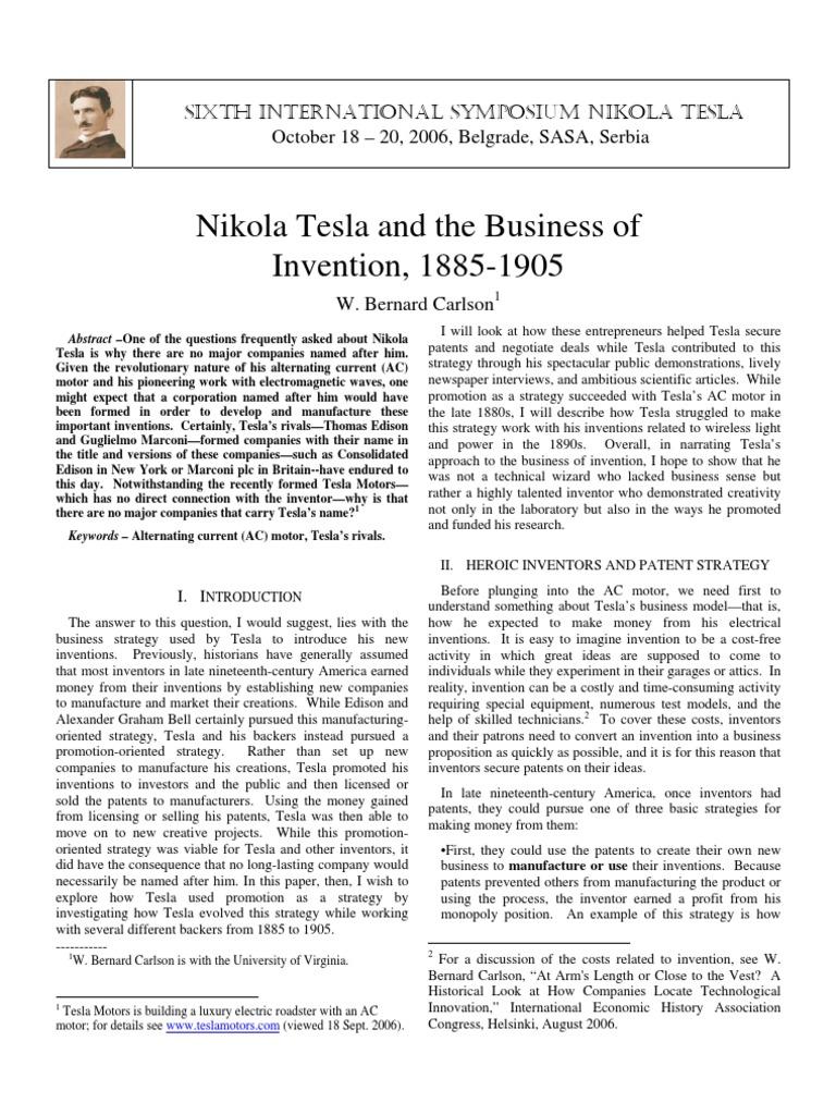 Tesla Symp06 Carlson Nikola Alternating Current Diagram Dynamo Electric Machine