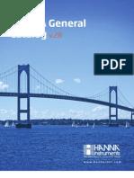 HANNA Instruments General Catalog