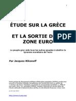 Nikonoff, J. Étude sur Grece et sortie de zone euro, 5-2012