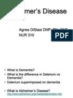 Alzheimers Disease Studentppt2011