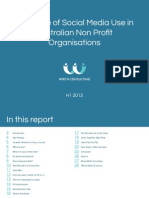 The State of Social Media Use in Australian Non Profit Organisations (H1 2012)