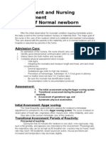 Assessment and Nursing Management Normal Newborn