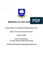 Statistics in Our DailyLife - Syima