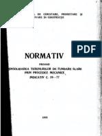 C 29-77 Normativ de Consolidarea Ternurilor Slabe Prin Procedee Mecanice