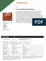Common Sap r3 Function Modules