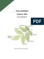 Arees Institute Syllabus