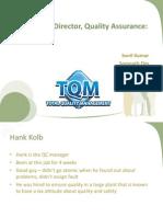 Hank Kolb, Director, Quality Assurance