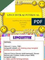 Linguistik Konteksual- Ttr 1
