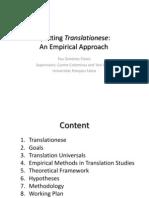 Spotting Translationese (Pau Giménez Thesis Proposal)