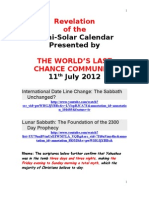 Revelation of the Luni-Solar Calenderl.doc 11.7.2012