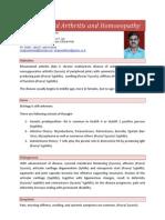 Rheumatoid Arthritis and Homoeopathy