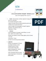 Pneumatic Lighting Trailer Defensetechs