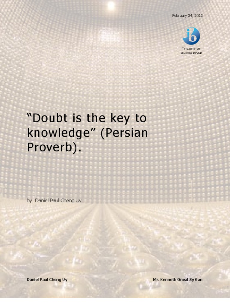 doubt is the key to knowledge tok