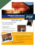 Alleghany Calvary Tabernacle Revival